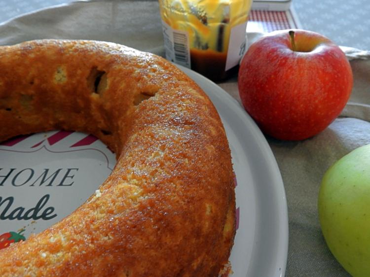 Gateau pomme confiture de lait13